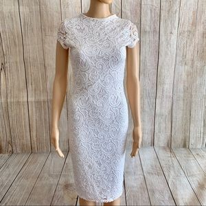 Dresses & Skirts - White Lace bodycon Dress Size Small